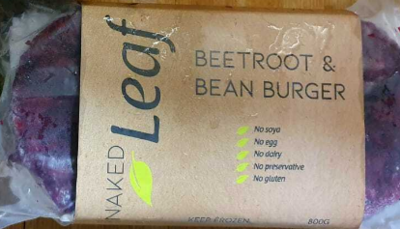 Naked Beetroot & Bean 8 Patties 800g