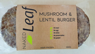 Naked Leaf Mushroom & Lentil 8 Patties 800g