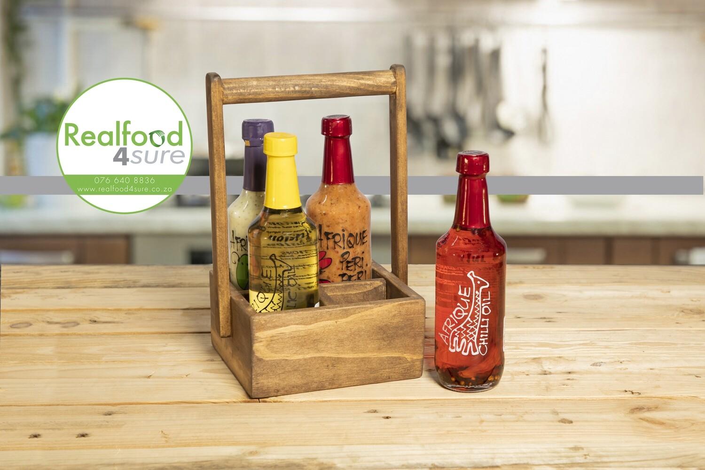 Afrique Gift Set (choose any Four Sauces or Oils 250ml Afrique bottles)
