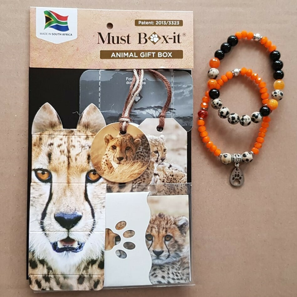 Cheetah Beaded Bracelet Set