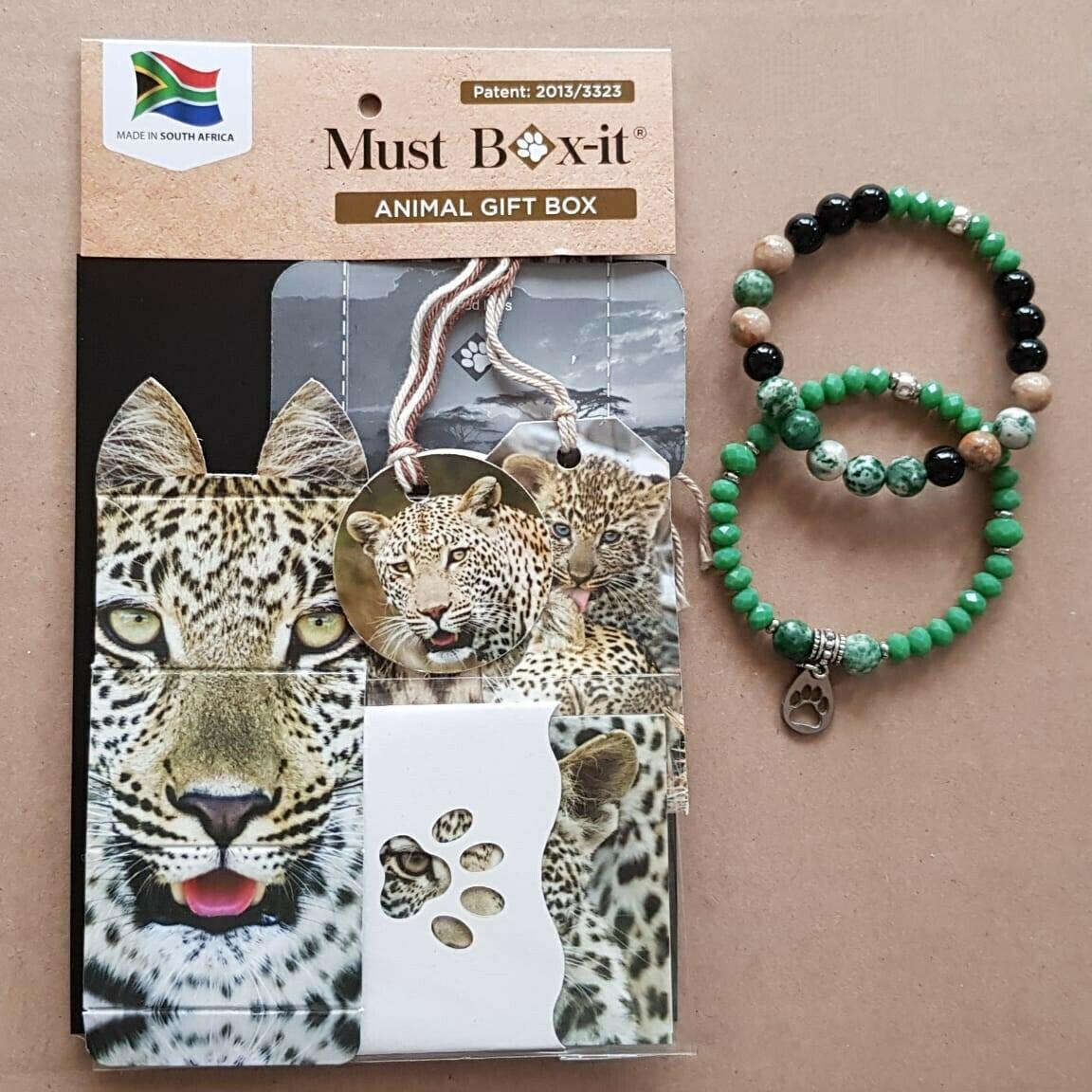 Leopard Beaded Bracelet Set