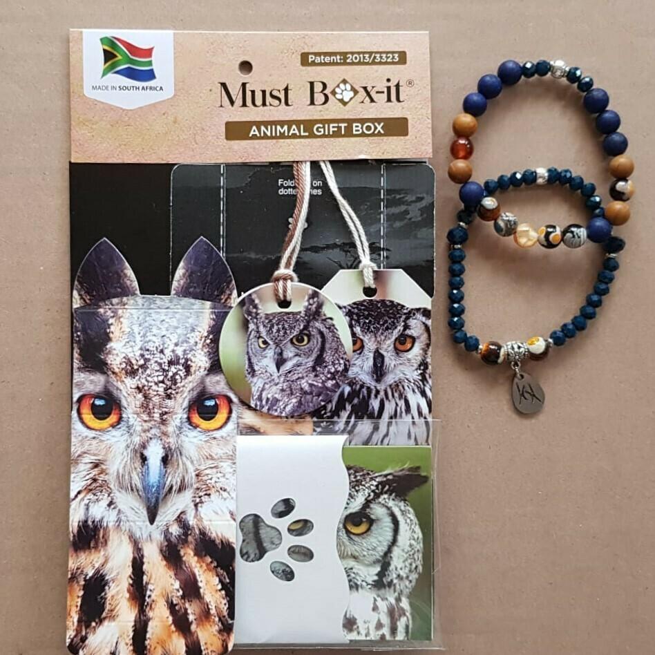 Owl Beaded Bracelet Set