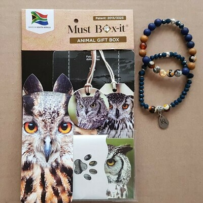 Owl Beaded Bracelet Set