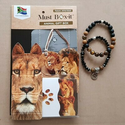 Lion Beaded Bracelet Set