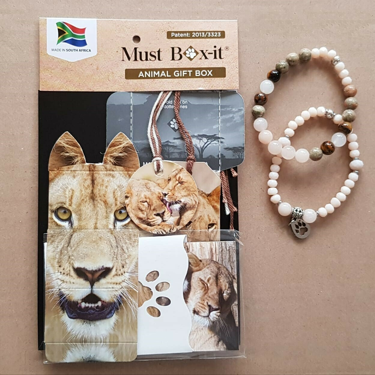 Lioness Beaded Bracelet Set