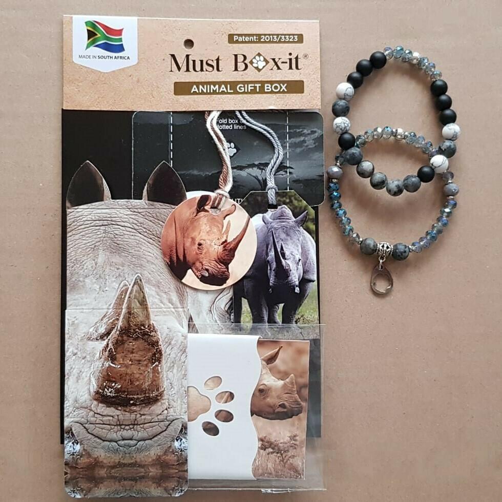 Rhino Beaded Bracelet Set