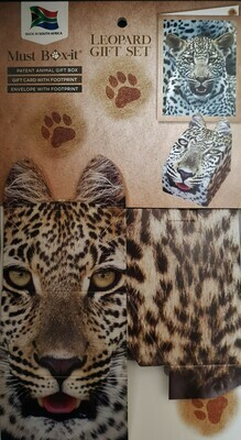 Leopard Gift Card Set