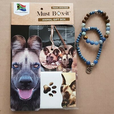 Wild Dog Beaded Bracelet Set