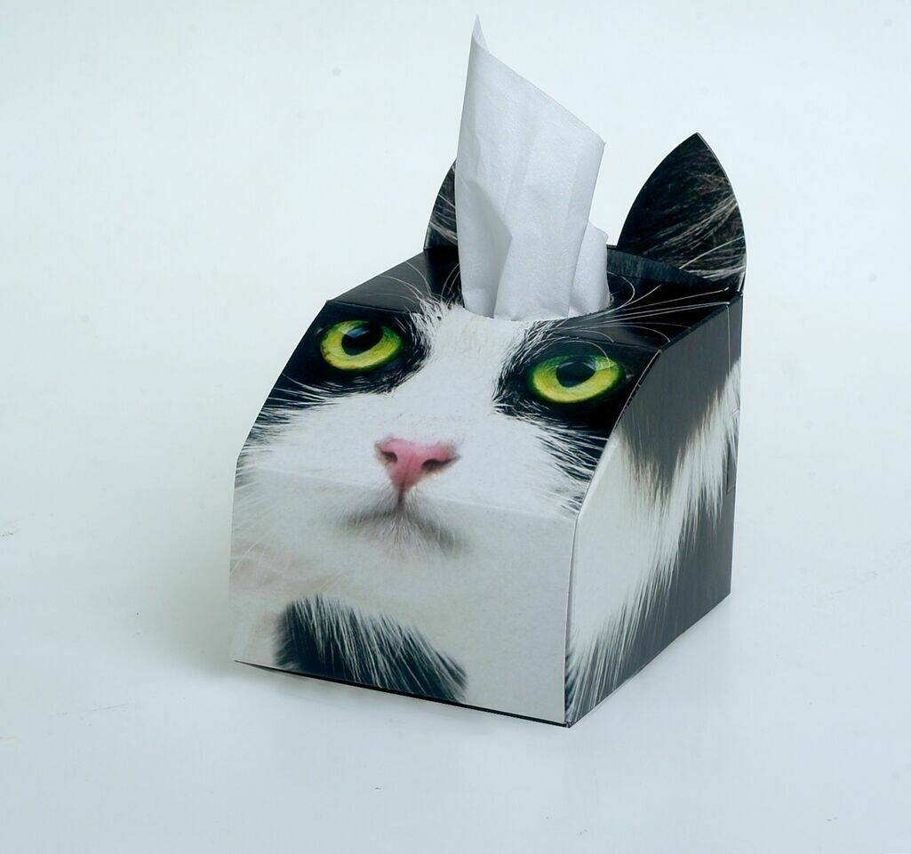 Tuxedo (Black and White) Cat Tissue Box Set