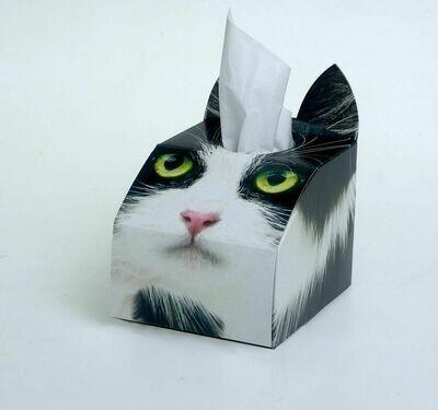 Tuxedo (Black and White) Cat Tissue Box Set