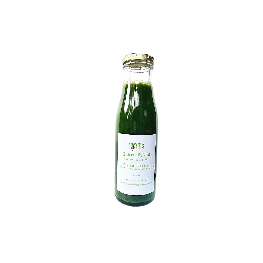 Mean Green (cucumber, celery, green apple, spinach) 375ml