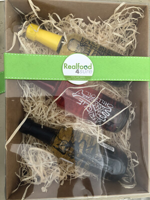 Afrique Gift Set (choose any Three Sauces or Oils 250ml Afrique bottles)