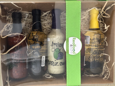 Afrique Gift Set (choose any Five Sauces or Oils 250ml Afrique bottles)