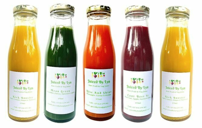 Juiced by Lyn 5 pack (one of each flavour)