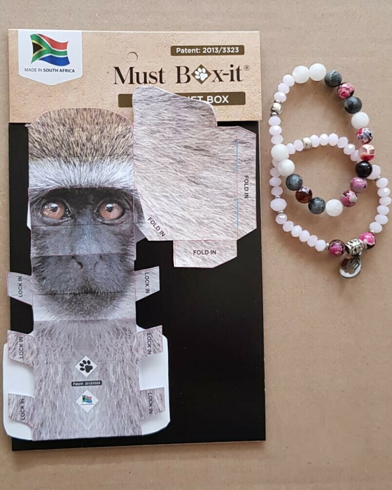 Monkey Beaded Bracelet Set
