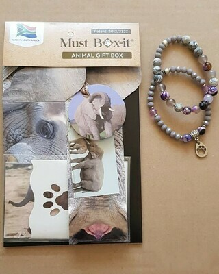 Elephant Beaded Bracelet Set