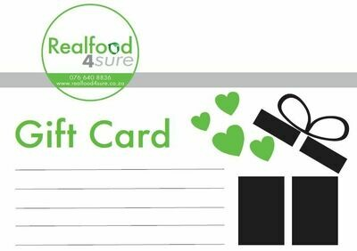 Gift Card (various amounts starting at R200 available)