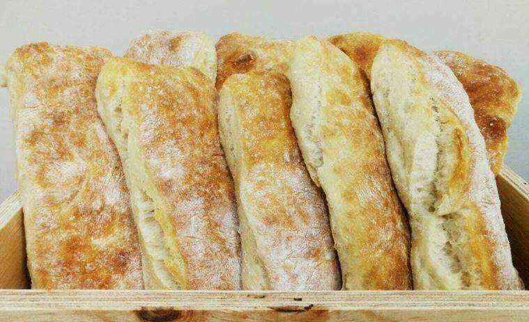 Sourdough Ciabatta Rolls (4) (Fresh)