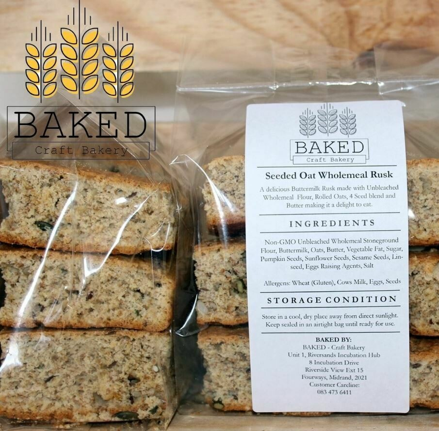 Wholemeal Seeded Oat Rusks (11/12)
