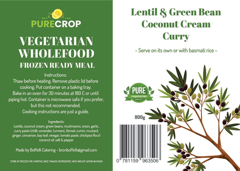 Lentil & Green Bean Coconut Cream Curry 800g