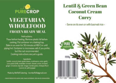 Lentil & Green Bean Coconut Cream Curry 800g