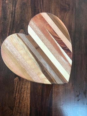 Wooden Heart Serving Board