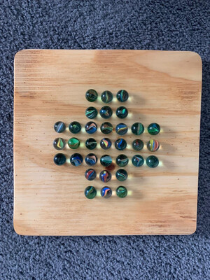 Solitaire board (with marbles)