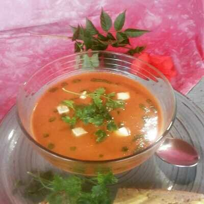 Roasted tomato, garlic and lentil soup 500ml
