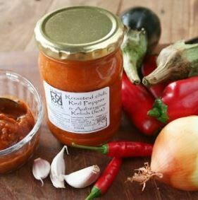 Roasted chilli, red pepper & aubergine relish 250ml
