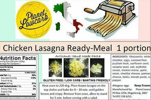 Chicken Lasagna 200g (Low Carb)