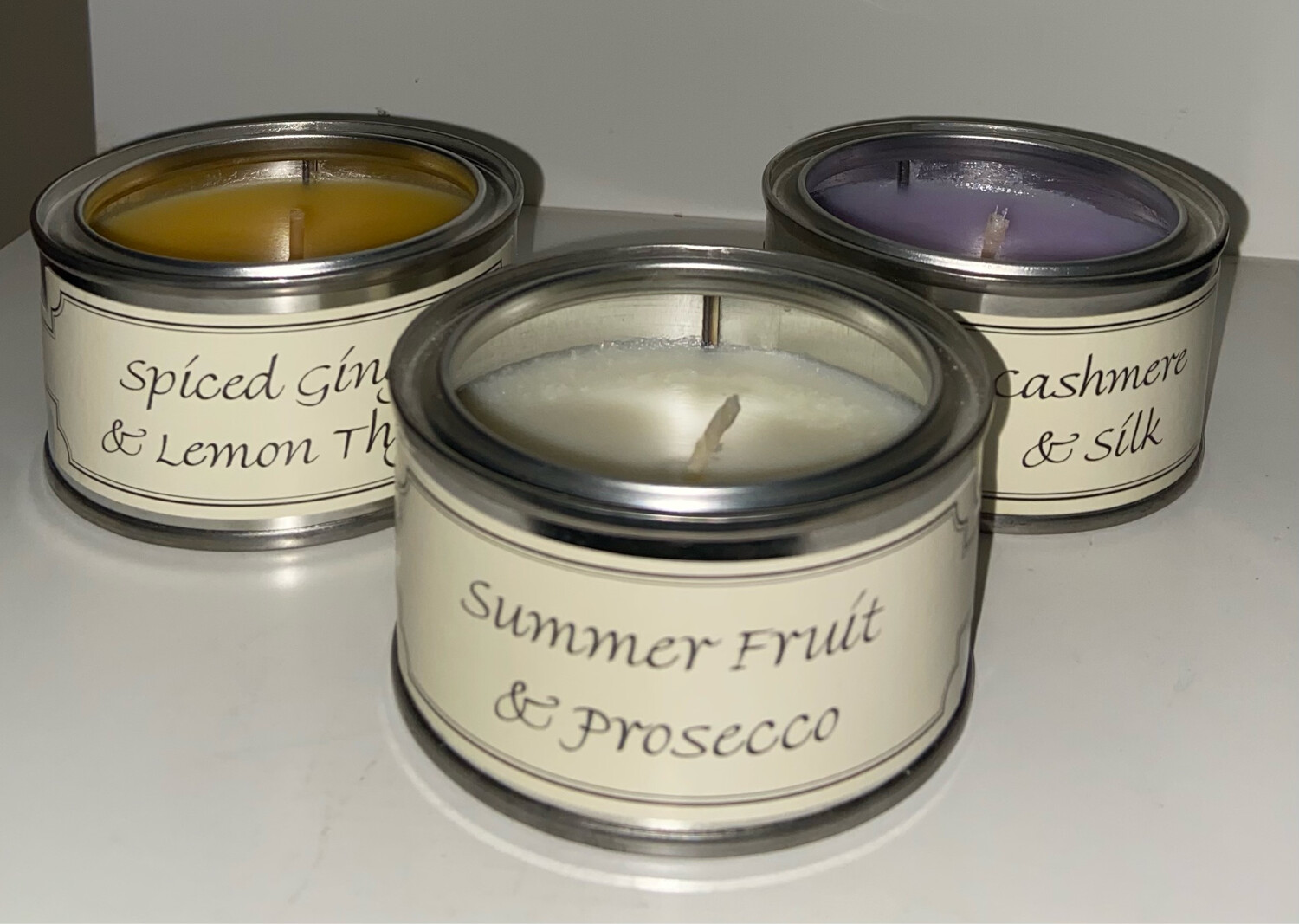 1 Wick Small Fragrant Tin Candle