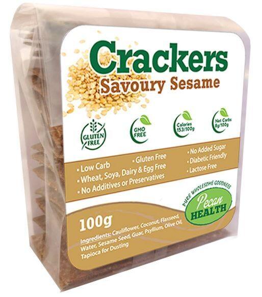 SAVOURY SESAME CRACKERS 100g