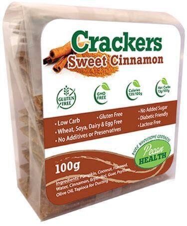 SWEET CINNAMON CRACKERS 100g