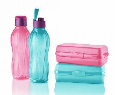 Eco Bottle (750ml) & Sandwich Keeper Oblong (2 sets)