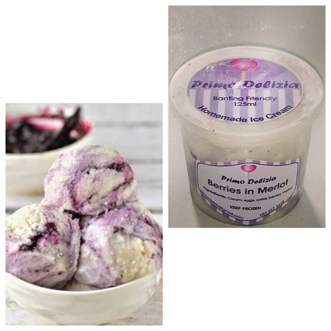 Banting Icecream (Berries n Merlot)