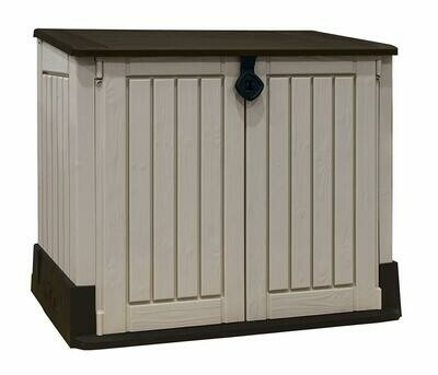 Keter Store-It  Midi Outdoor Plastic Garden Storage Shed, Beige and Brown, Installation included with Delivery