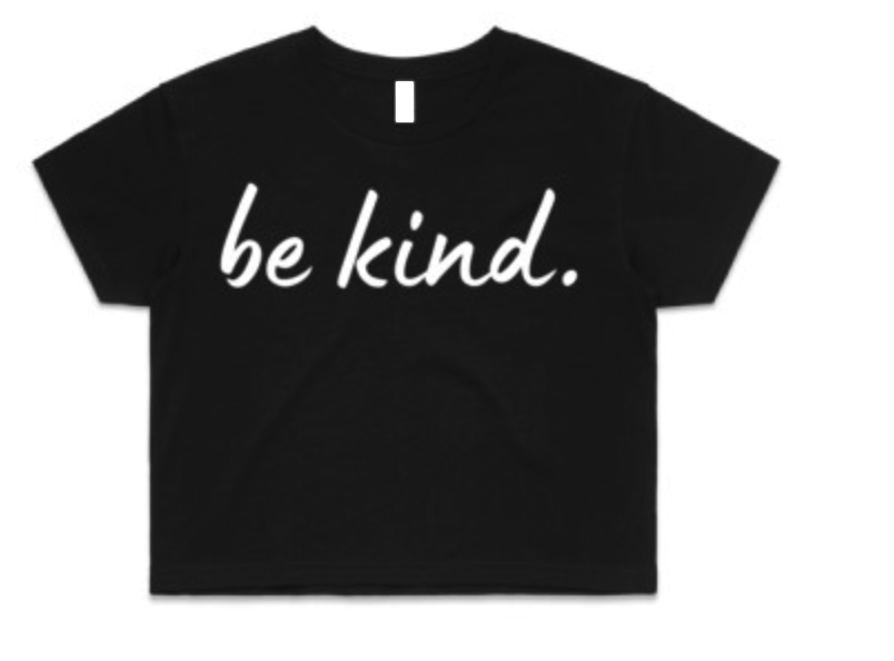 Women's - Be Kind. Crop