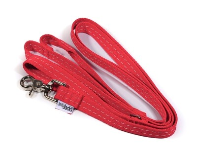 """DOUBLE HANDLE LEASH  - 3/4"""" (w/ HD Lobster claw clip)"""