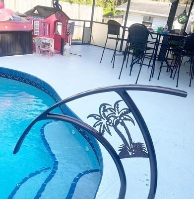 Pool Artistic Palm Tree