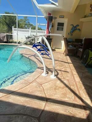Pool Artistic Triple Dolphin