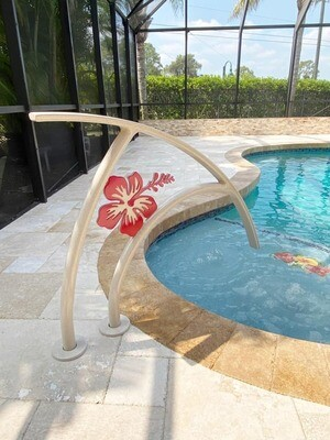 Pool Artistic Hibiscus Flower