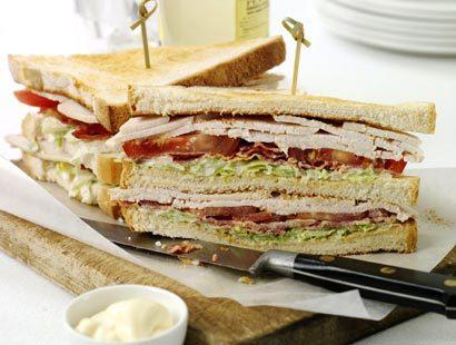 Клаб сэндвич мини с курицей и томатами, 10 шт.