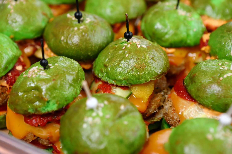 Зеленые бургеры с фалафелем 10шт.