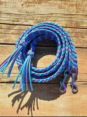 Blue/Purple Braided Reins
