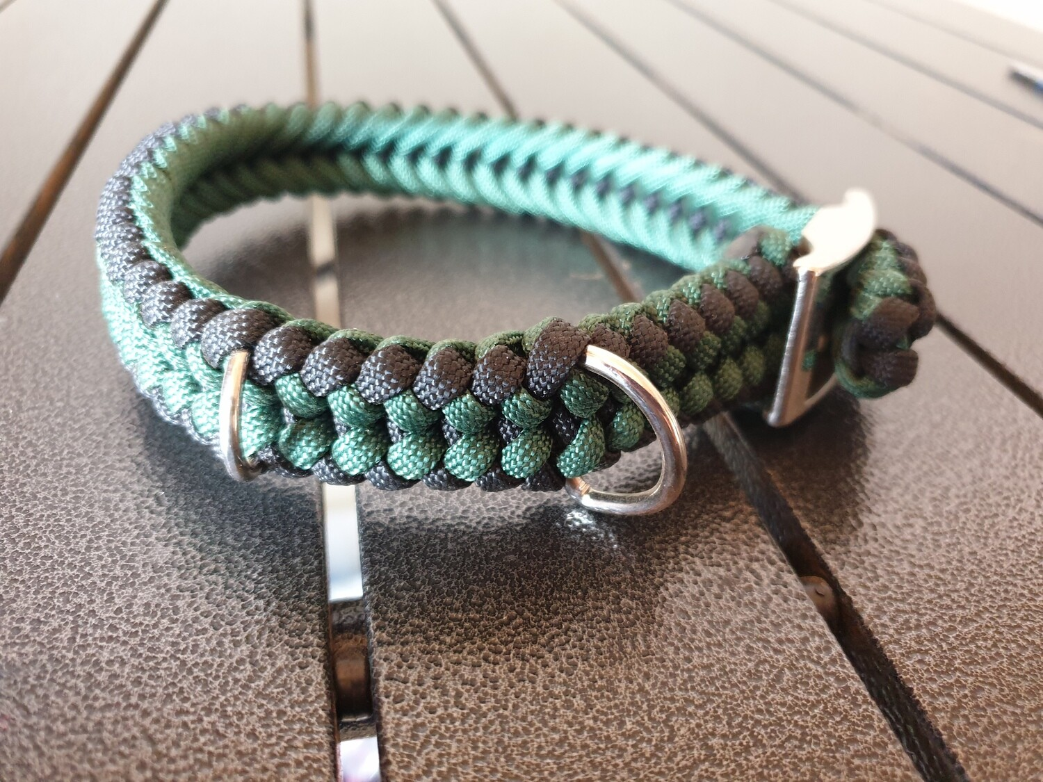 Hunter Green and Black small collar