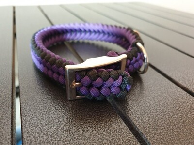 Purple and Black small collar