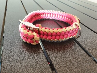 Pink and Biege small collar