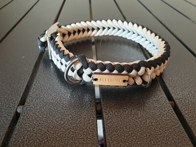 White and Black small collar