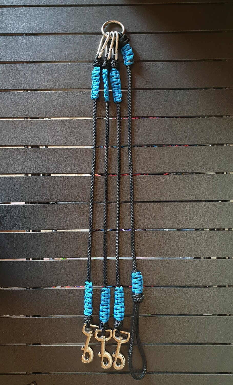 Black and Blue 3 way split lead