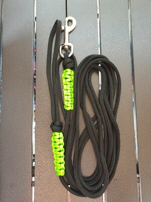 Black and Lime 4m lead